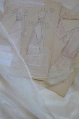 Création et croquis de robes de mariée Sylvie Mispouillé