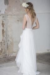 Robe de mariée décolleté dos atelier sylvie Mispouillé