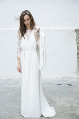 Veste tailleur et robe de mariée styliste Sylvie Mispouillé