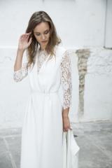 Collection Robe de mariée manche dentelle Sylvie Mispouillé