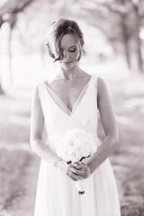 Robe de mariée en crêpe de soie Sylvie Mispouillé