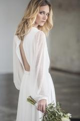 Robe de mariée fluide d'hiver sylvie Mispouillé toulouse