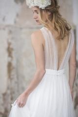 Robe de mariée décolleté dos atelier sylvie Mispouillé toulouse