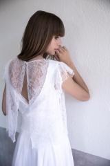 Robe courte pour mariage civil collection atelier Sylvie Mispouillé