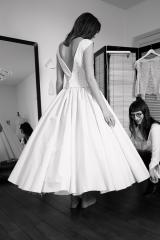 Robe courte pour un mariage civil Sylvie Mispouillé