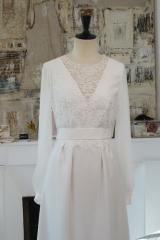 Robe de mariée Fluide et tulle Sylvie Mispouillé