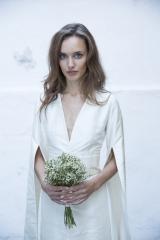 Robe de mariée Kimono soie Sylvie Mispouillé