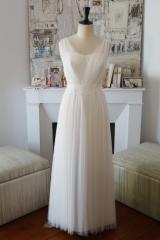 Robe de mariée Tulle de soie Sylvie Mispouillé