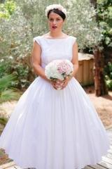 Robe de mariée année 50 Sylvie Mispouillé