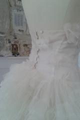 Robe de mariée  bustier en organza de soie Sylvie Mispouillé