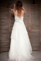Robe de mariée cocon en gaze de coton Sylvie Mispouillé