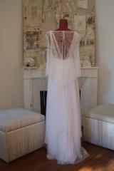 Robe de mariée en tulle de soie et dentelle Sylvie Mispouillé