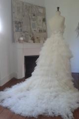 Robe de mariée en tulle volante Sylvie Mispouillé