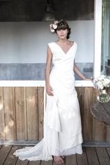 Robe de mariée fluide et intemporelle Sylvie Mispouillé