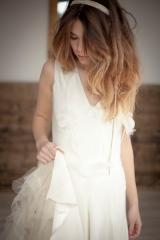 Robe de mariée vintage sur mesure Sylvie Mispouillé