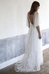Robe de mariée songes tulle de soie et dentelle Sylvie Mispouillé