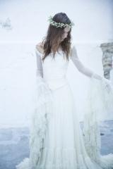 Robe de mariée style bohème Sylvie Mispouillé