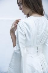 Kimono robe de mariée d'hiver Sylvie Mispouillé