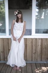 Robe de mariée et jupon de tulle Sylvie Mispouillé