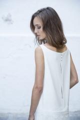 Robe de mariée épurée Sylvie Mispouillé